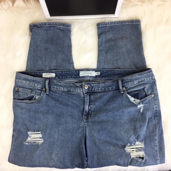 torrid Denim - Torrid Distressed Boyfriend Jeans Size 24